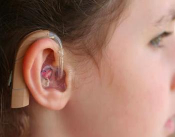 visible hearing aid